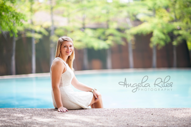 Fort Worth Water Gardens Senior Photography Angela Riles Photography